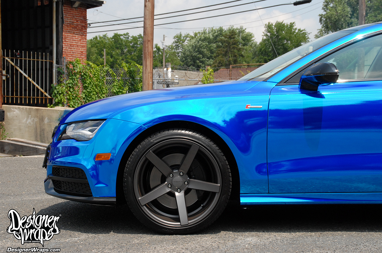 Blue Chrome Audi A7