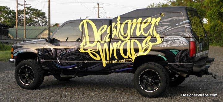 Black Designer Wraps truck