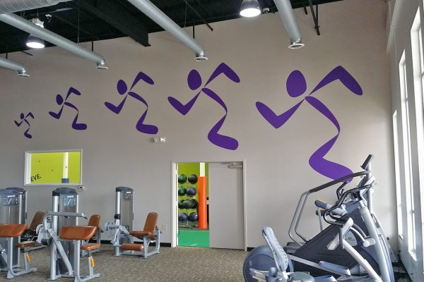 Anytime Fitness wall decal