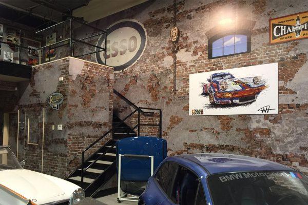 Vinyl Architectural Decals at The Garage