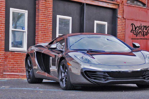 Designer-Wraps-Black Chrome McLaren