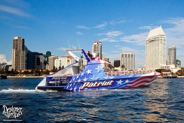 Patriot Boat Wrap