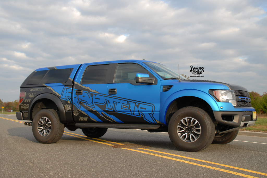Blue Ford Raptor