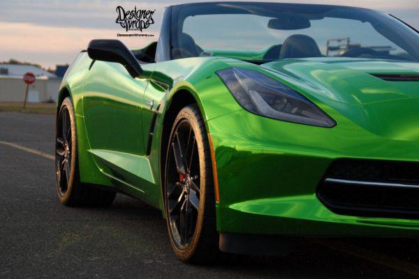 Green Chrome Corvette