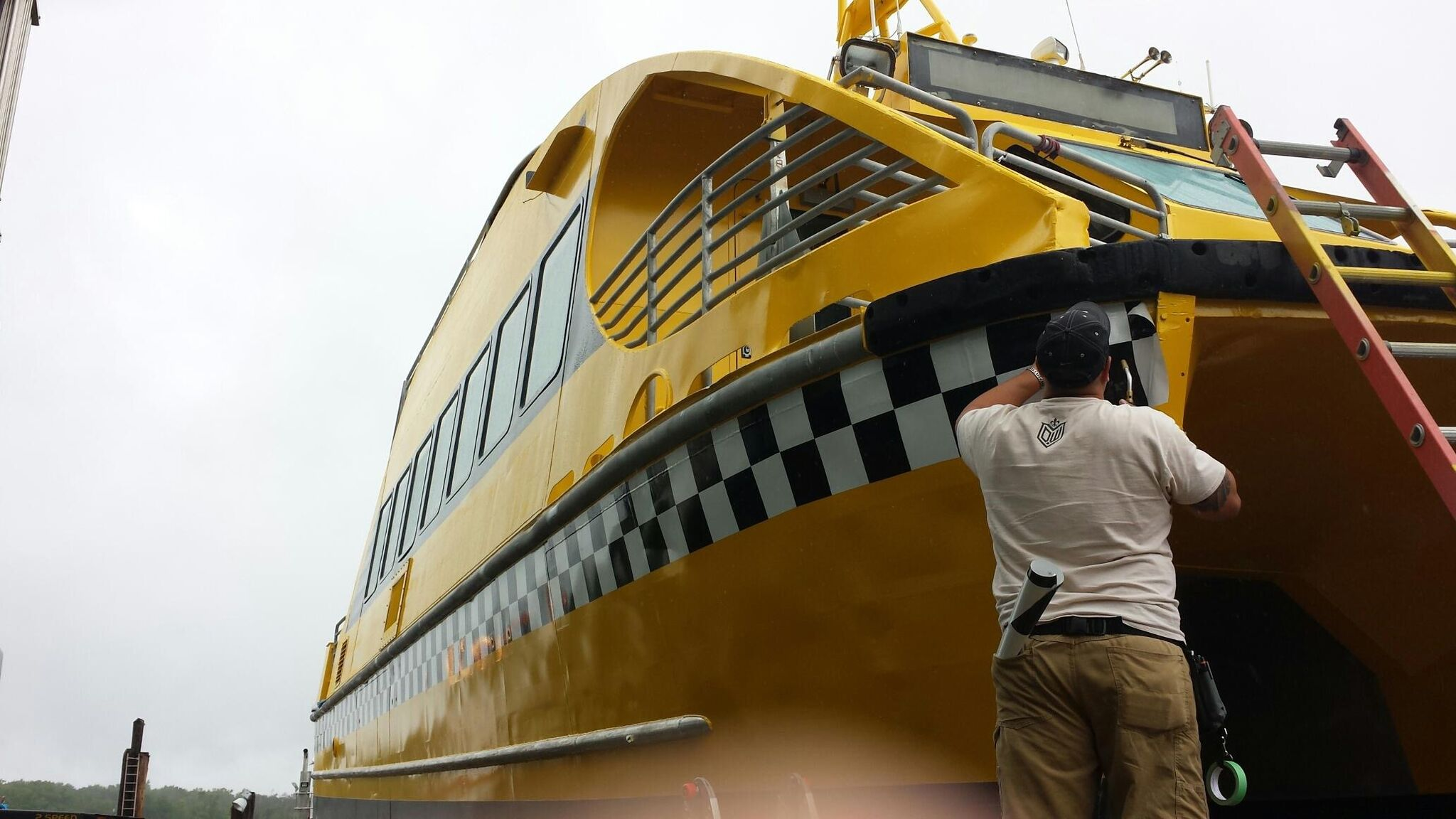In-progress NYC Water Taxi Boat Wraps