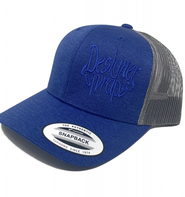 Shop Solid Cosmic Blue and Gray Snapback